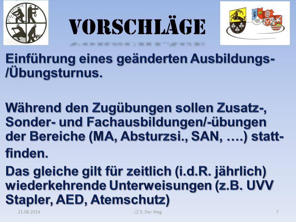 VORSCHLÄGE 21.08.2014LZ 3, Der Weg7