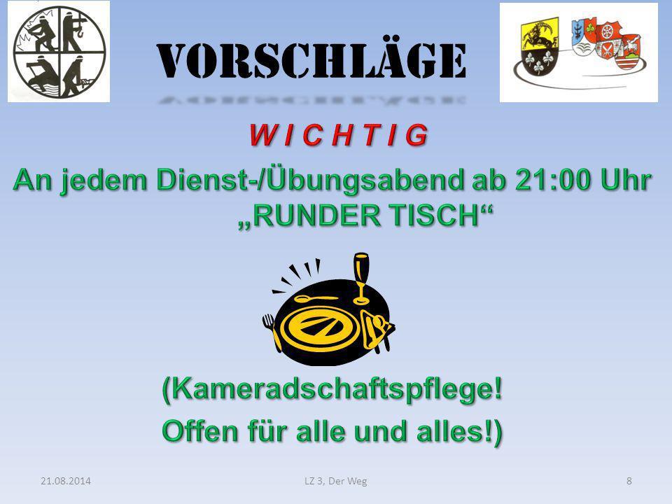 VORSCHLÄGE 21.08.2014LZ 3, Der Weg8