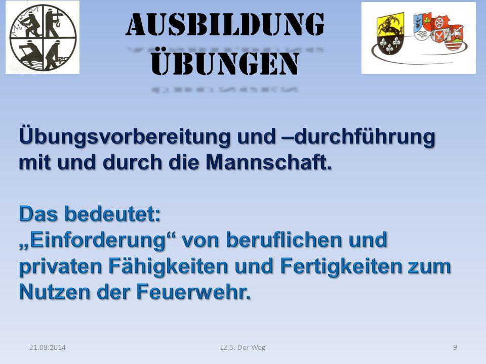 Ausbildung Übungen 21.08.2014LZ 3, Der Weg9