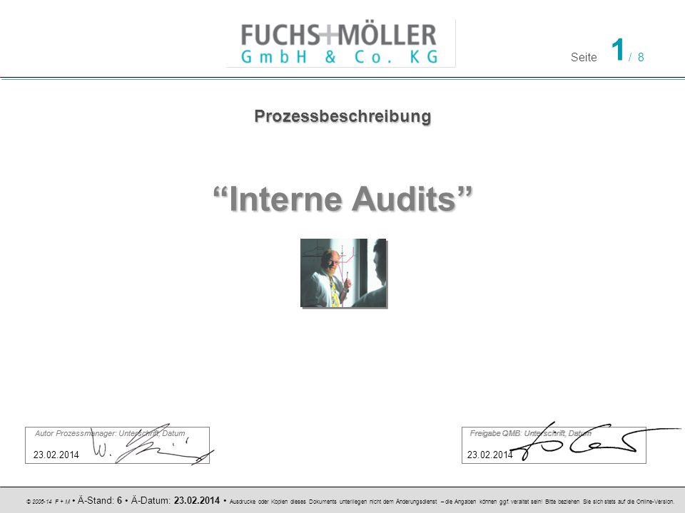 Seite 1 / 8 © 2006-14 F + M Ä-Stand: 6 Ä-Datum: 23.02.2014 Ausdrucke oder Kopien dieses Dokuments unterliegen nicht dem Änderungsdienst – die Angaben können ggf.