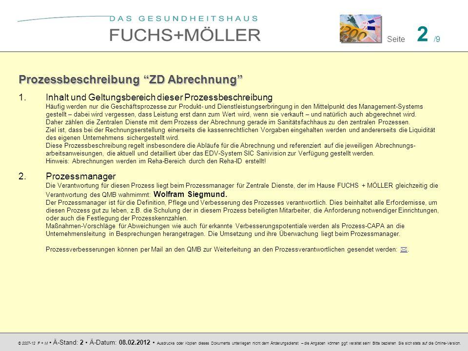 © 2007-12 F + M Ä-Stand: 2 Ä-Datum: 08.02.2012 Ausdrucke oder Kopien dieses Dokuments unterliegen nicht dem Änderungsdienst – die Angaben können ggf.