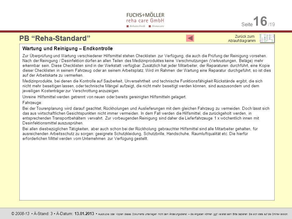 Seite 16 /19 © 2008-13 Ä-Stand: 3 Ä-Datum: 13.01.2013 Ausdrucke oder Kopien dieses Dokuments unterliegen nicht dem Änderungsdienst – die Angaben könne