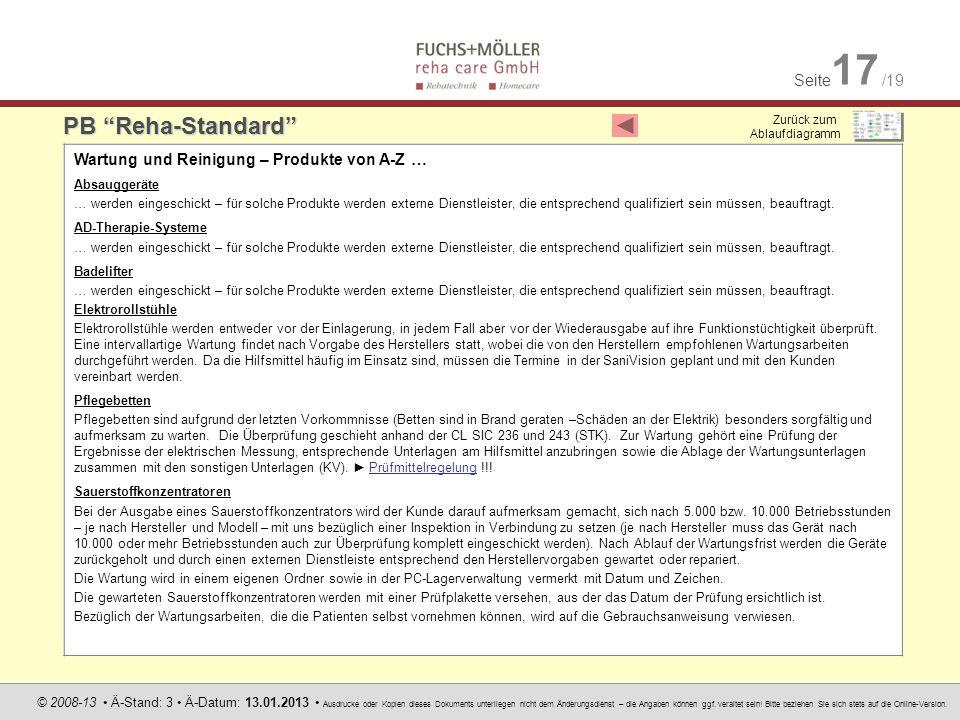 Seite 17 /19 © 2008-13 Ä-Stand: 3 Ä-Datum: 13.01.2013 Ausdrucke oder Kopien dieses Dokuments unterliegen nicht dem Änderungsdienst – die Angaben können ggf.