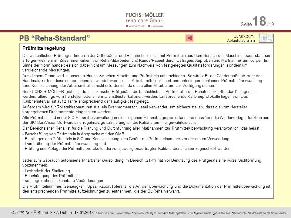 Seite 18 /19 © 2008-13 Ä-Stand: 3 Ä-Datum: 13.01.2013 Ausdrucke oder Kopien dieses Dokuments unterliegen nicht dem Änderungsdienst – die Angaben könne
