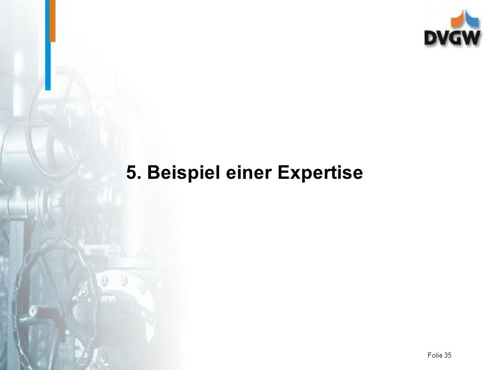 Folie 35 5. Beispiel einer Expertise