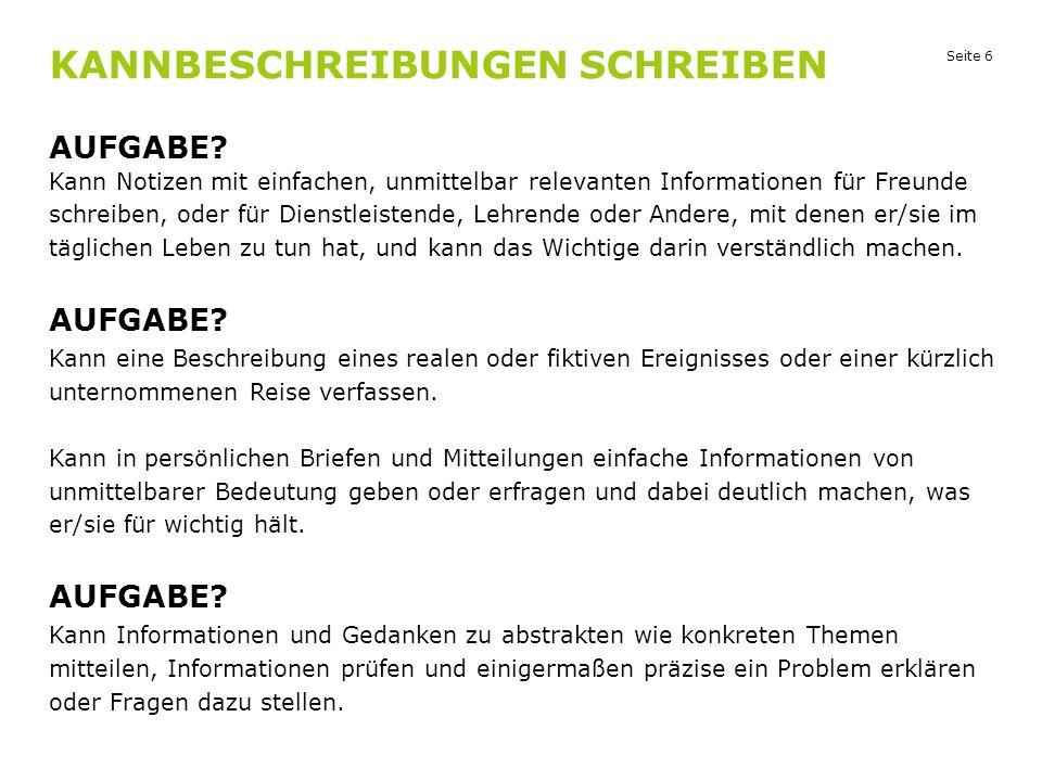 Seite 27 SPRECHEN AUFGABE 1 Goethe-Institut Zentrale Bereich 41 Perlmann-Balme/Arndt