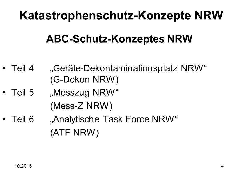 """10.20135 """"Wasserrettungszug NRW (WR-Z NRW) """"Vorgeplante überörtliche Hilfe größeren Umfangs """"Mobile Führungsunterstützung (MoFüst) Katastrophenschutz-Konzepte NRW"""