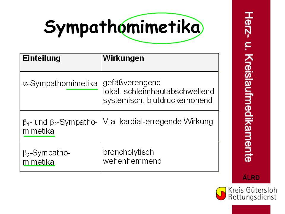 Sympathomimetika Herz- u. Kreislaufmedikamente