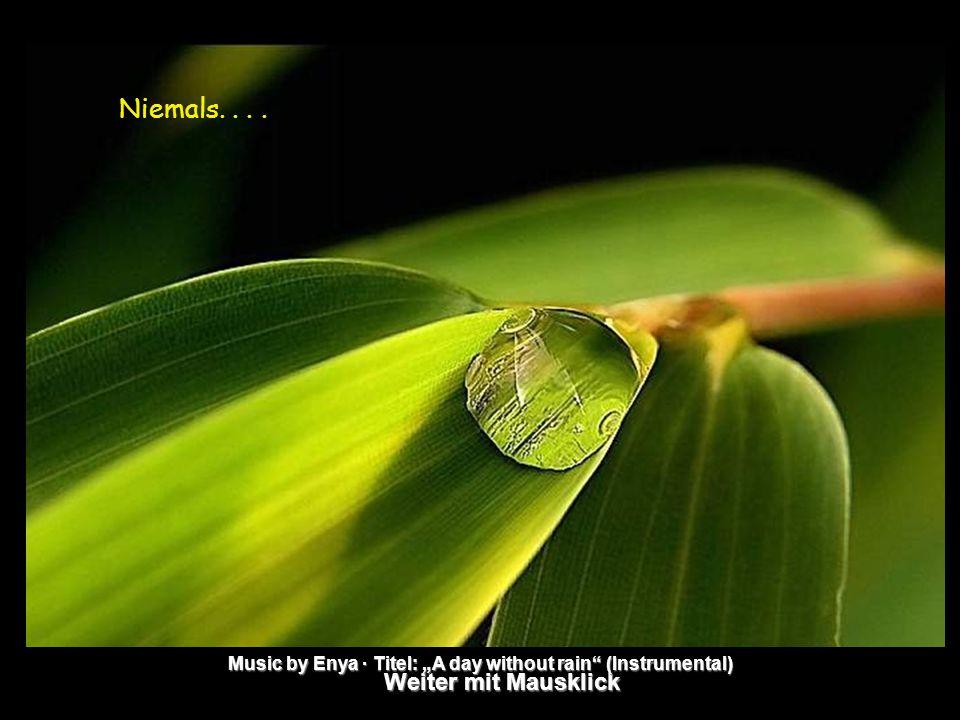 """Weiter mit Mausklick Music by Enya · Titel: """"A day without rain (Instrumental) Niemals...."""
