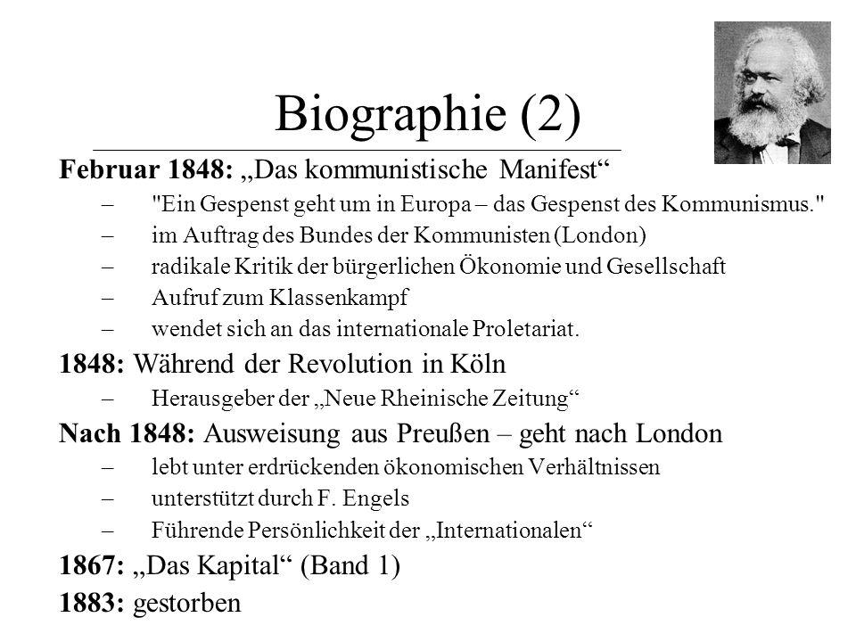 """Biographie (2) Februar 1848: """"Das kommunistische Manifest"""" –"""