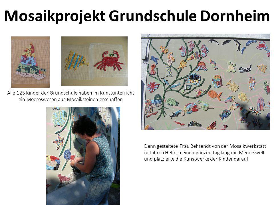 Mosaikprojekt Grundschule Dornheim Alle 125 Kinder der Grundschule haben im Kunstunterricht ein Meereswesen aus Mosaiksteinen erschaffen Dann gestalte