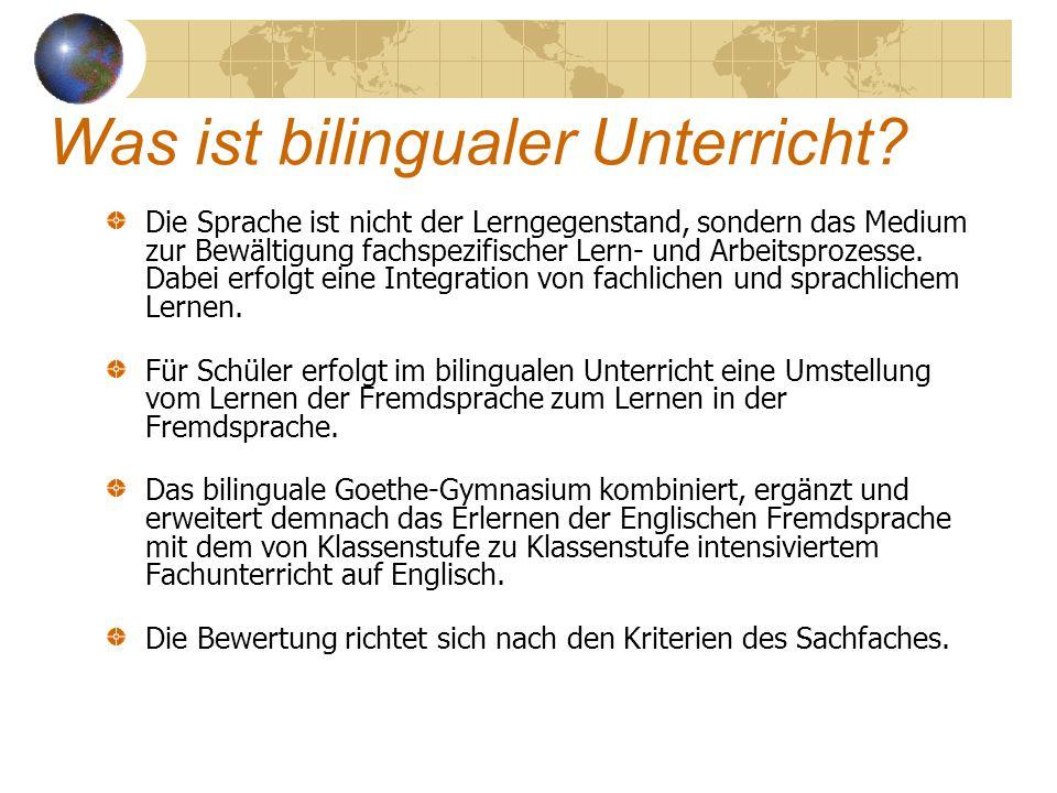 Was ist bilingualer Unterricht.