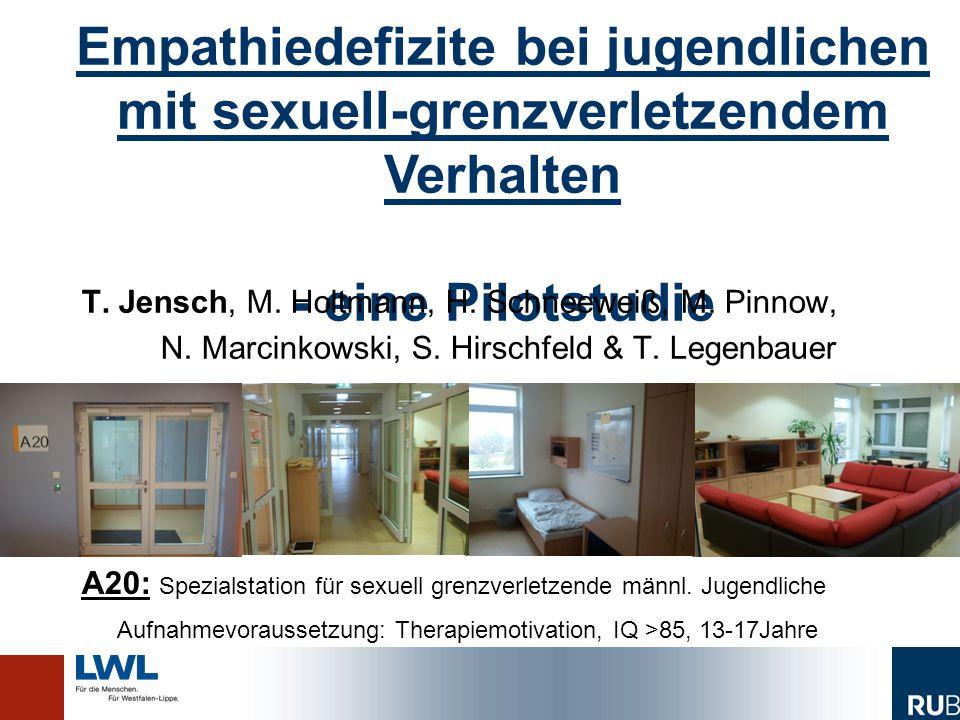 Empathiedefizite bei jugendlichen mit sexuell- grenzverletzendem Verhalten - eine Pilotstudie Empathiedefizite bei jugendlichen mit sexuell-grenzverletzendem Verhalten - eine Pilotstudie T.