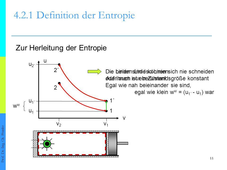 Die beiden Linie können sich nie schneiden oder auch nur berühren! Egal wie nah beieinander sie sind, egal wie klein w w = (u 1´ - u 1 ) war 11 4.2.1D