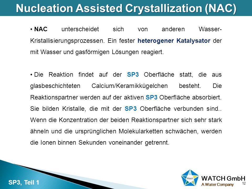 WATCH GmbH A Water Company Nucleation Assisted Crystallization (NAC) NAC unterscheidet sich von anderen Wasser- Kristallisierungsprozessen. Ein fester