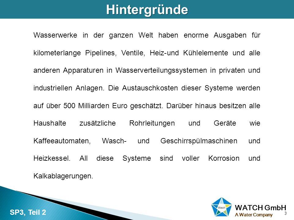 WATCH GmbH A Water CompanyWasserhärte 4 Einleitung: Wasserhärte wird oftmals mit der Alkalität (Konzentration von Basen) verwechselt.