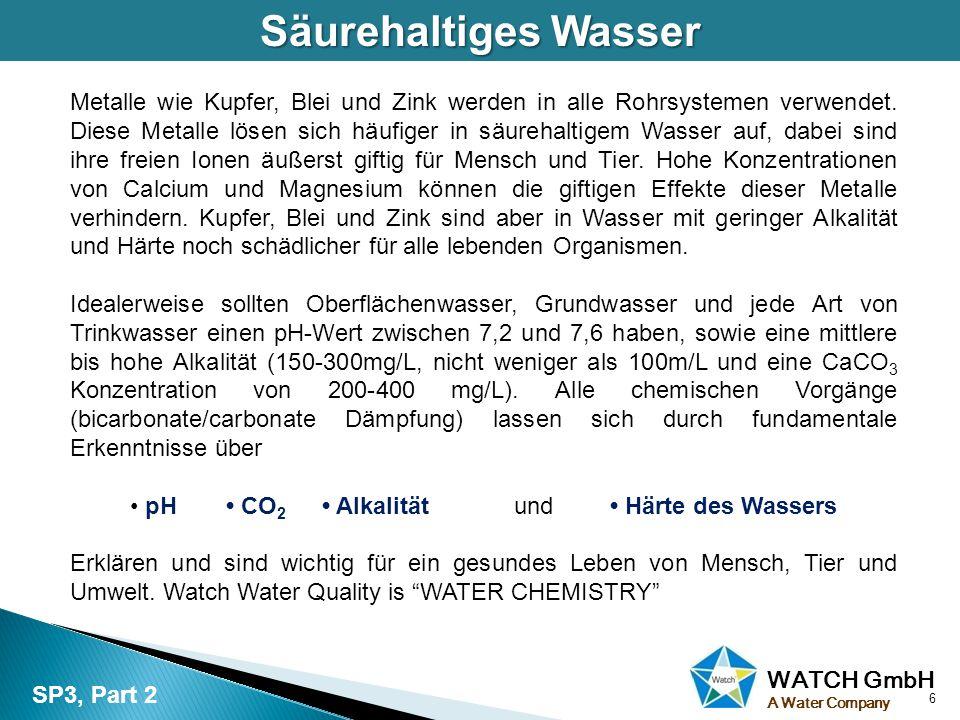 WATCH GmbH A Water Company Sowohl Korrosion oder Kalk oder beides erhöhen die Pumpkosten, aufgrund von Wasserverlust.