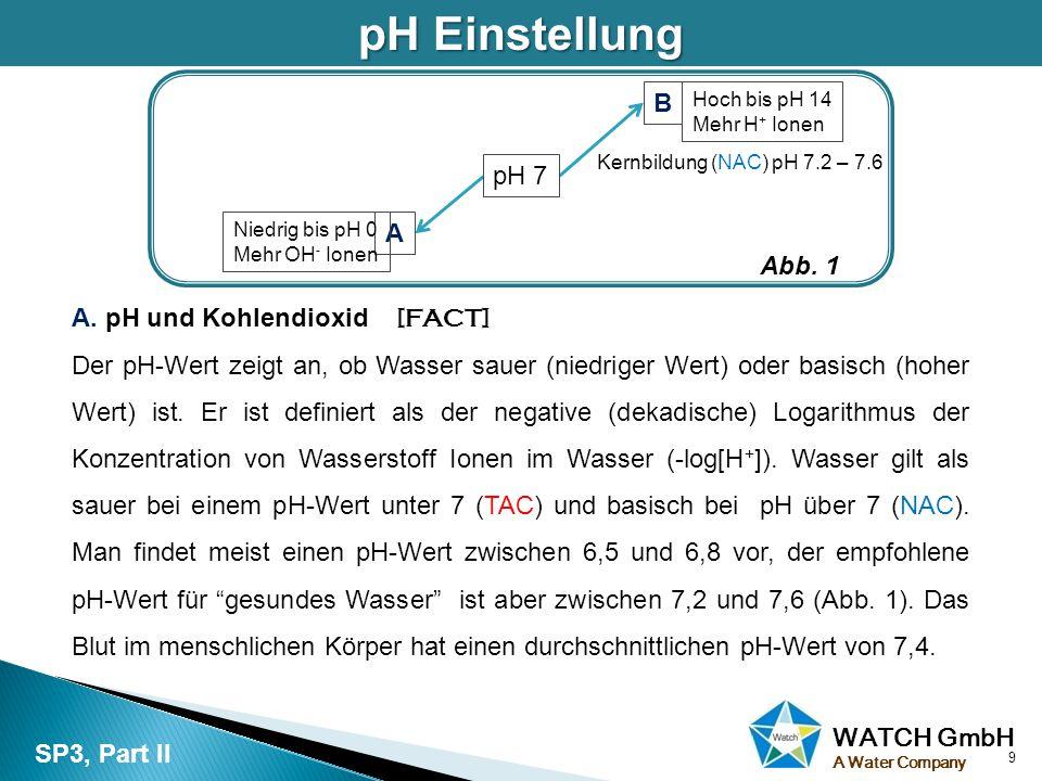 WATCH GmbH A Water CompanyAlkalität Das CO 2 im Grundwasser und der Atmosphäre produziert bei der Reaktion mit Wasser Kohlensäure (H 2 CO 3 ) und verringert dadurch den pH-Wert.
