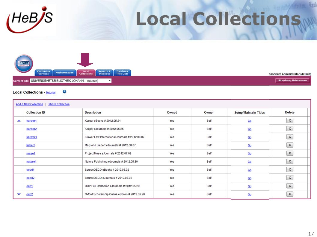 17 Local Collections