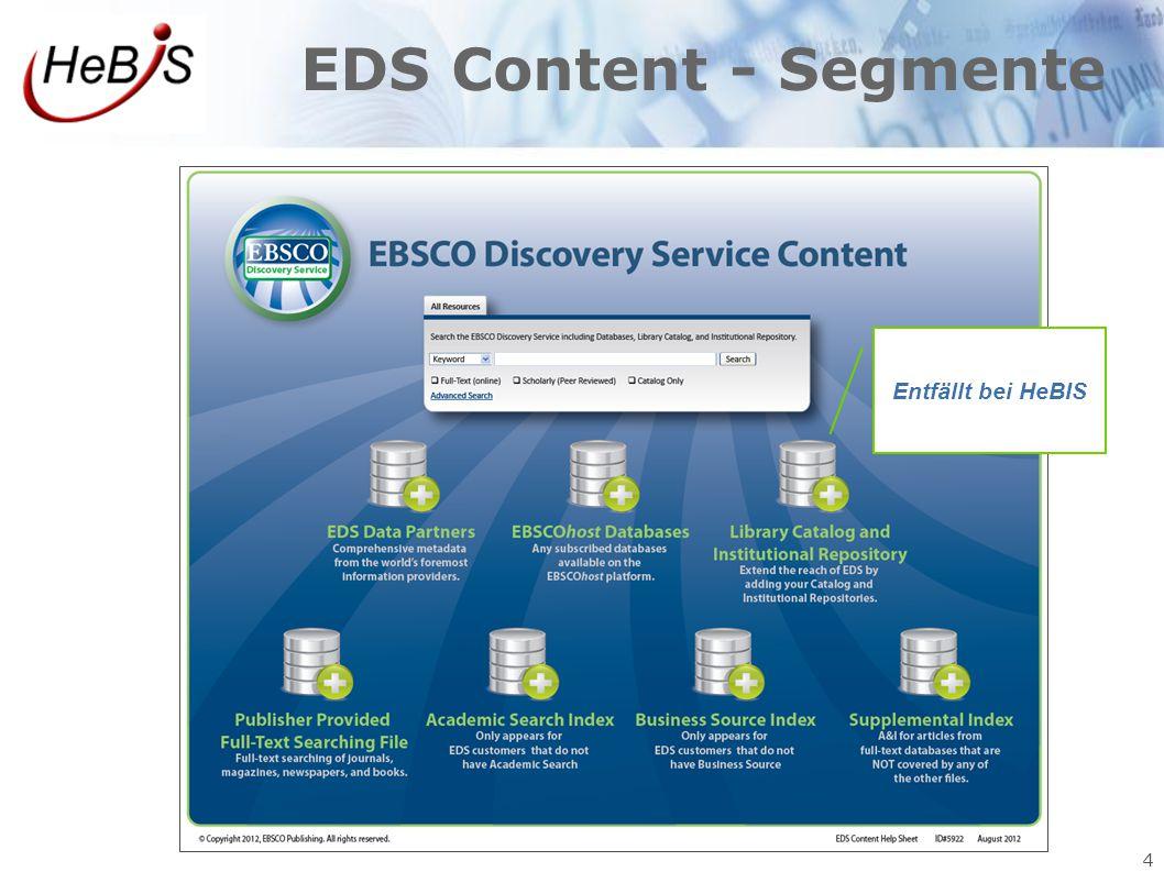 4 EDS Content - Segmente Entfällt bei HeBIS