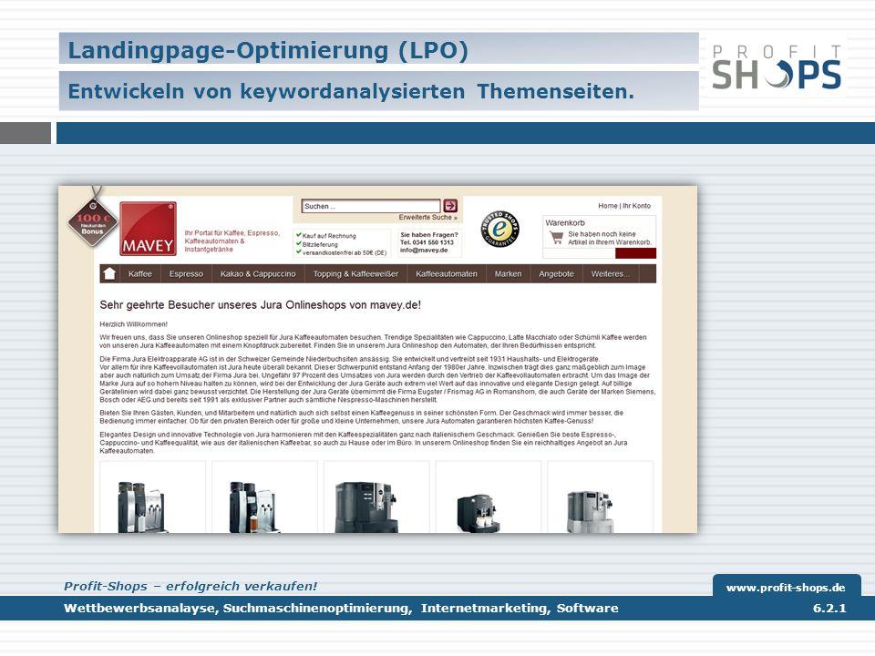 Landingpage-Optimierung (LPO) – Die virtuellen Kundenstopper.