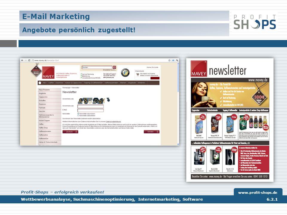 E-Mail Marketing Angebote persönlich zugestellt.