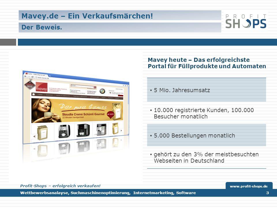 Mavey heute – Das erfolgreichste Portal für Füllprodukte und Automaten 5 Mio.