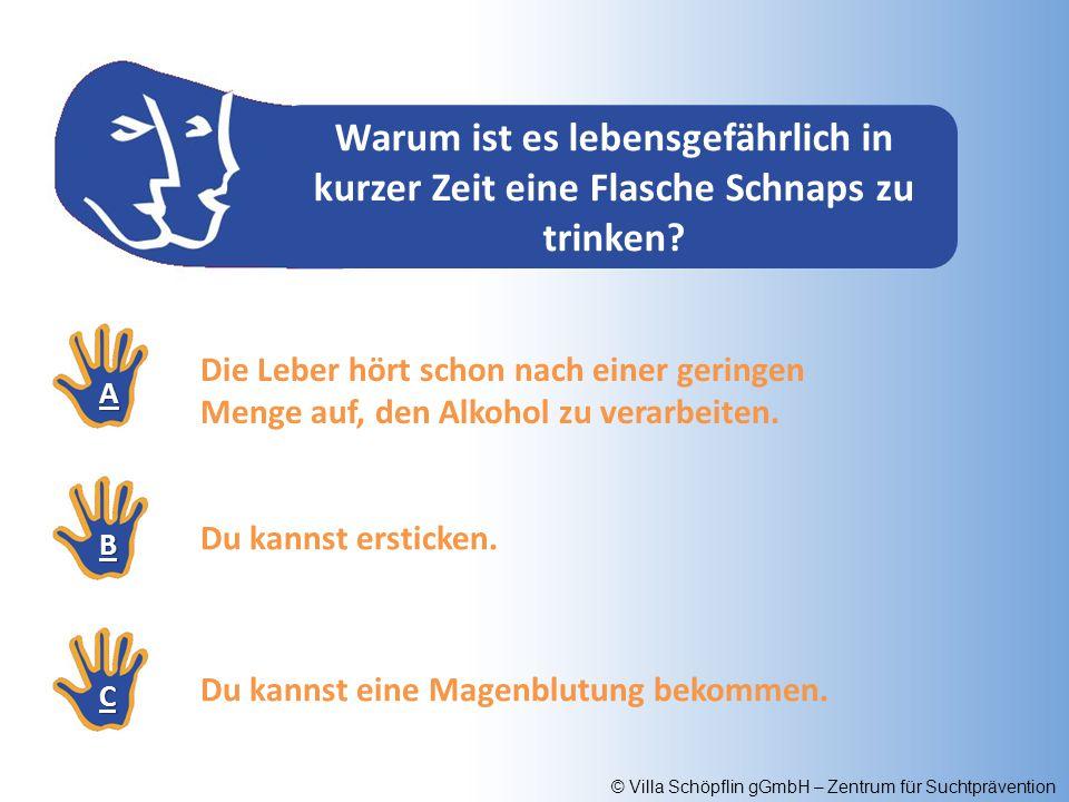 © Villa Schöpflin gGmbH – Zentrum für Suchtprävention Wie wirst du schneller wieder nüchtern.