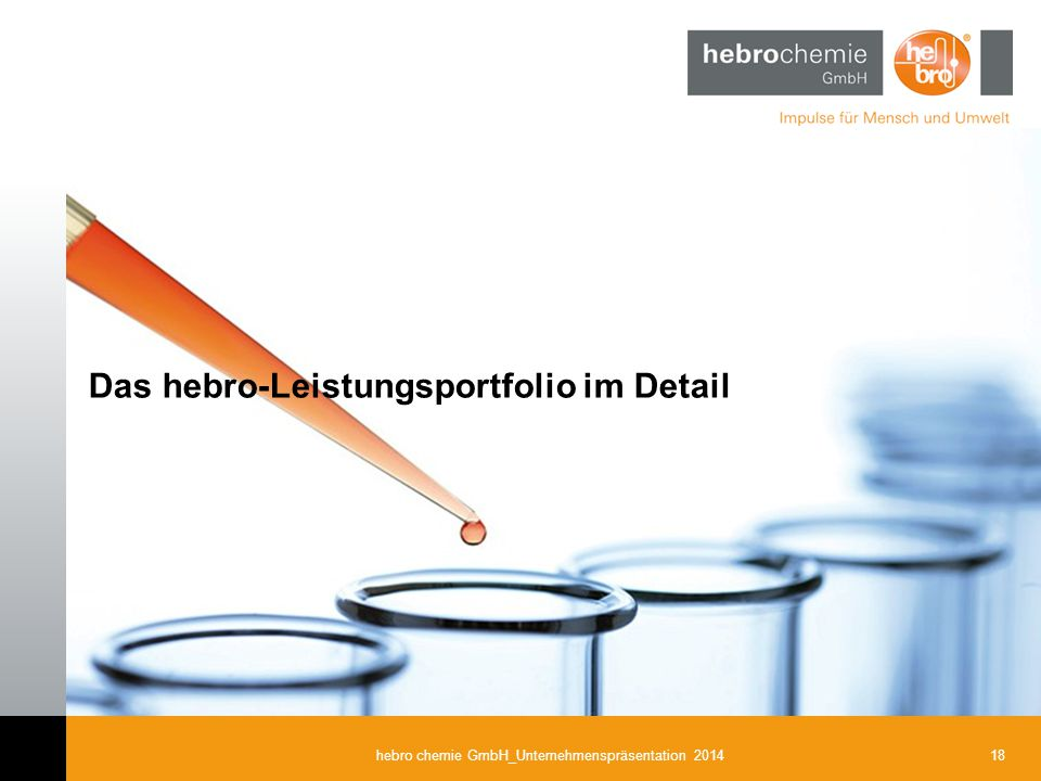 18hebro chemie GmbH_Unternehmenspräsentation 2014 Das hebro-Leistungsportfolio im Detail