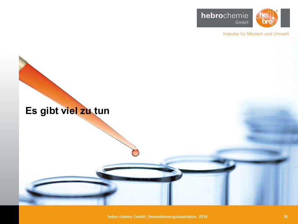 36hebro chemie GmbH_Unternehmenspräsentation 2014 Es gibt viel zu tun