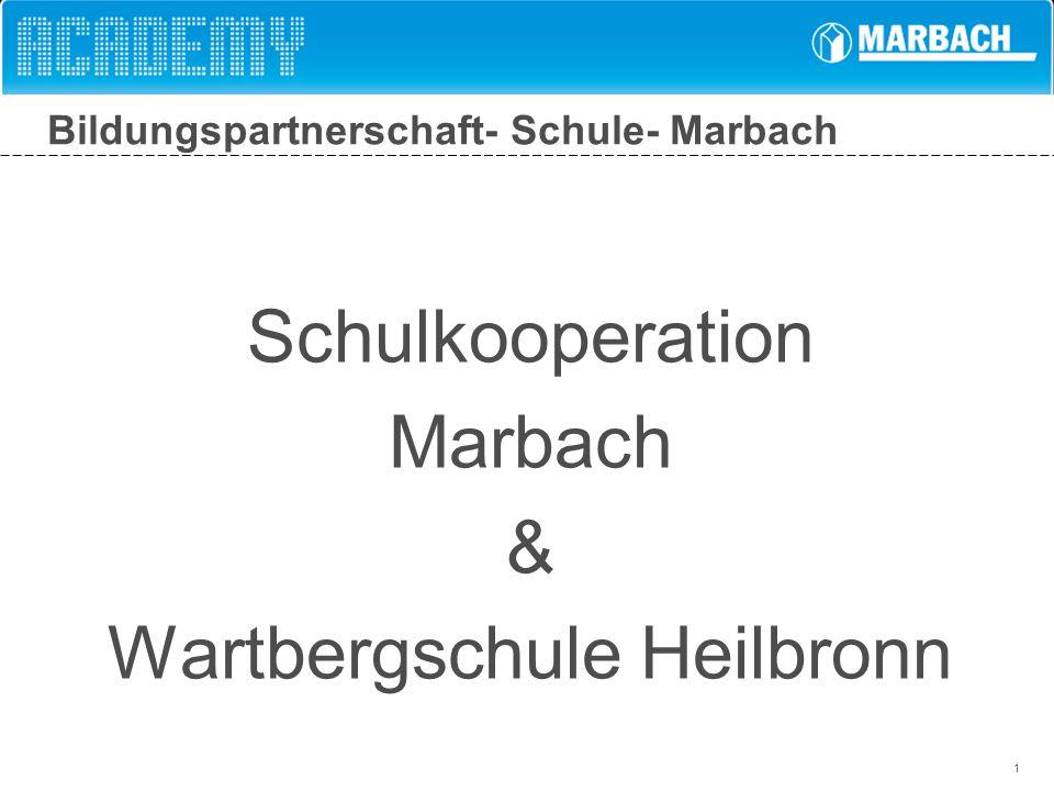 1 Bildungspartnerschaft- Schule- Marbach Schulkooperation Marbach & Wartbergschule Heilbronn