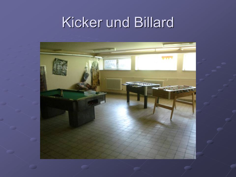 Kicker und Billard