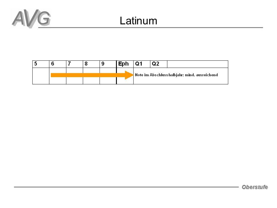 Oberstufe Latinum