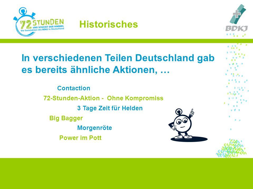 Contaction In verschiedenen Teilen Deutschland gab es bereits ähnliche Aktionen, … Big Bagger 3 Tage Zeit für Helden Power im Pott 72-Stunden-Aktion -