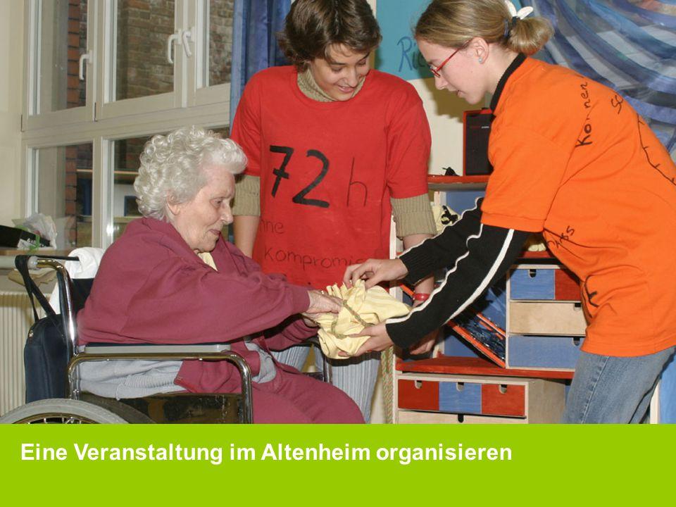 Eine Veranstaltung im Altenheim organisieren