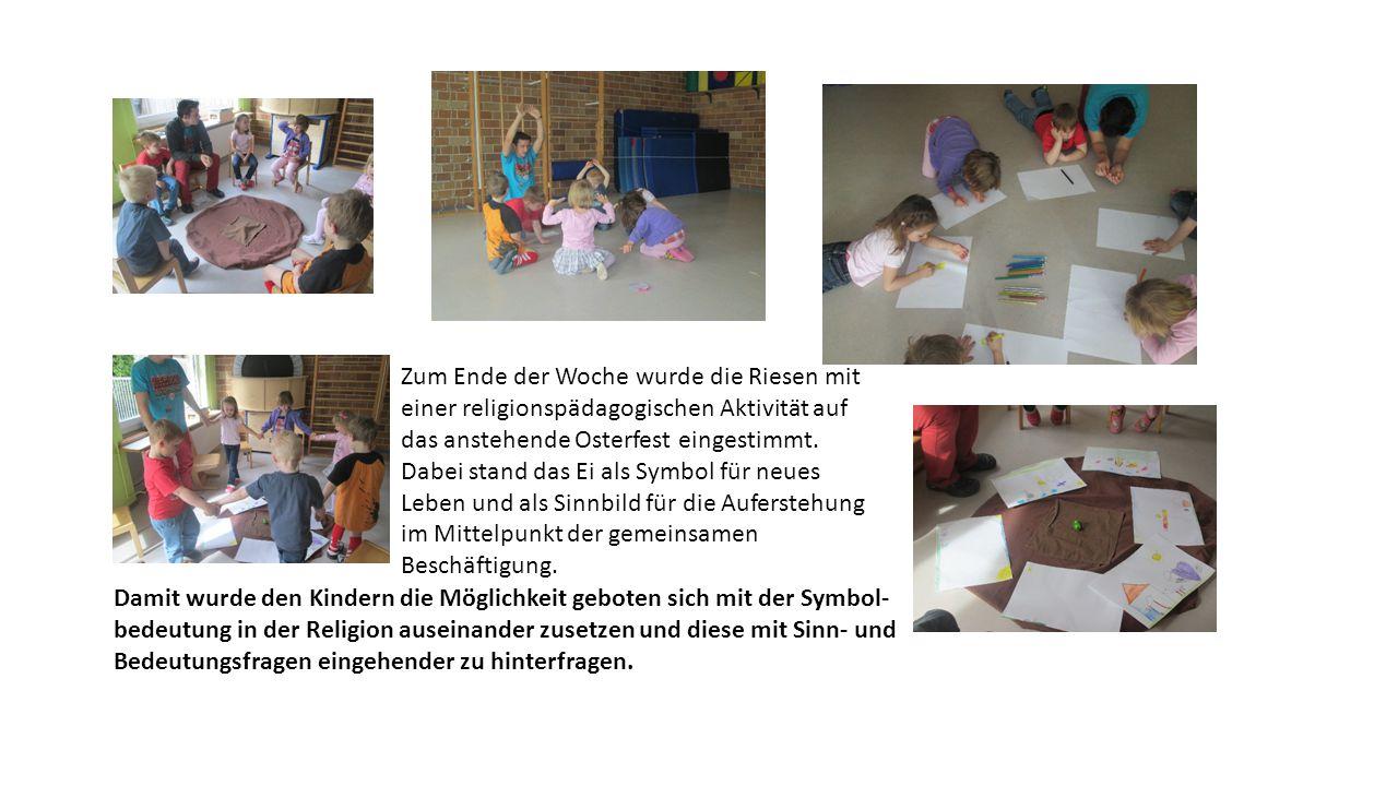 Zum Ende der Woche wurde die Riesen mit einer religionspädagogischen Aktivität auf das anstehende Osterfest eingestimmt.