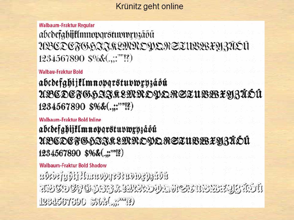 Krünitz geht online