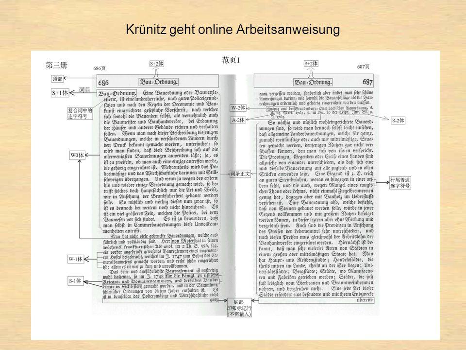 Krünitz geht online Arbeitsanweisung