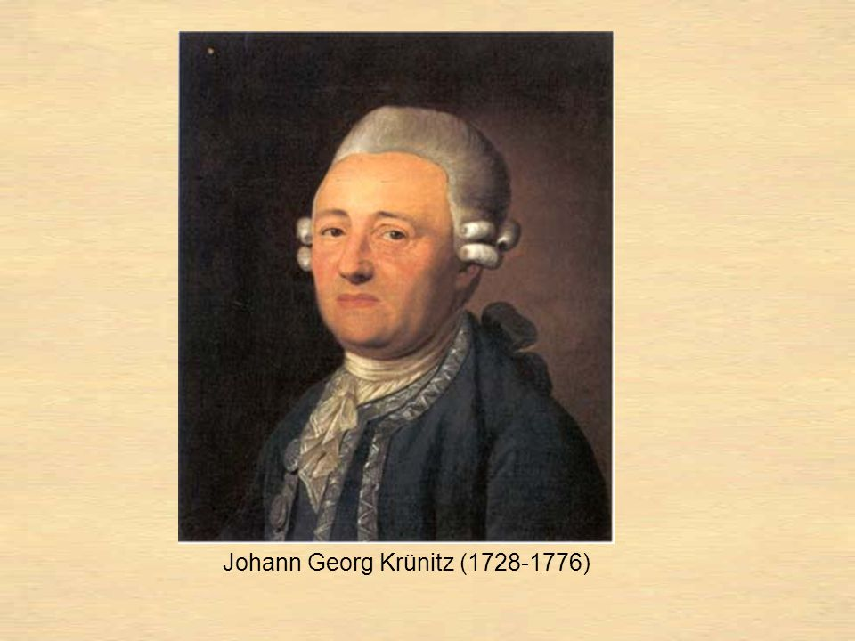 Johann Georg Krünitz (1728-1776)