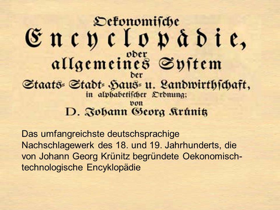 Das umfangreichste deutschsprachige Nachschlagewerk des 18.