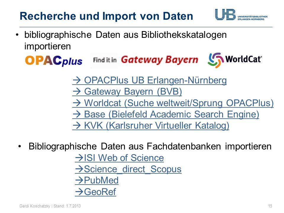 Direktimport aus PubMed Gerdi Koschatzky | Stand: 1.7.201316