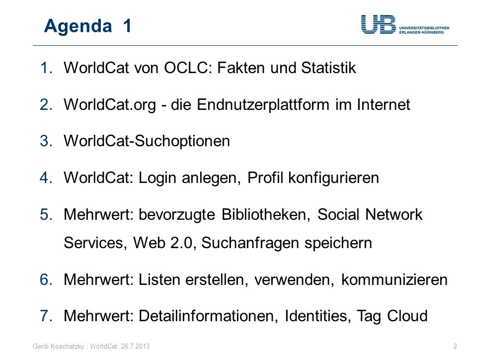 OCLC Research: FRBR und Linked Data Gerdi Koschatzky : WorldCat 26.7.201383 Aufgabe Deduplizierung der vielen historisch gewachsen Dubletten Improving the presentation of library data using FRBR and Linked data Anne-Lena Westrum, Asgeir Rekkavik, Kim Tallerås When a library end-user searches the online catalogue for works by a particular author, he will typically get a long list that contains different translations and editions of all the books by that author, sorted by title or date of issue.
