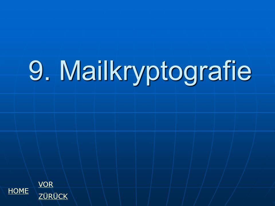 9. Mailkryptografie HOME VOR ZÜRÜCK