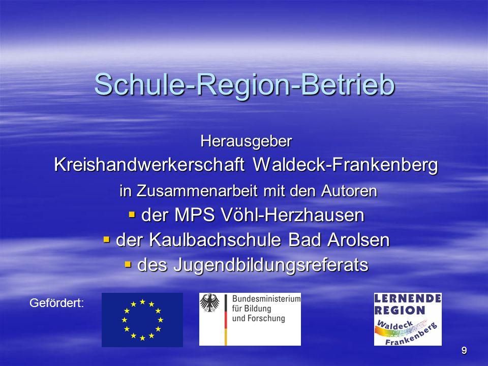9 Herausgeber Kreishandwerkerschaft Waldeck-Frankenberg in Zusammenarbeit mit den Autoren in Zusammenarbeit mit den Autoren  der MPS Vöhl-Herzhausen