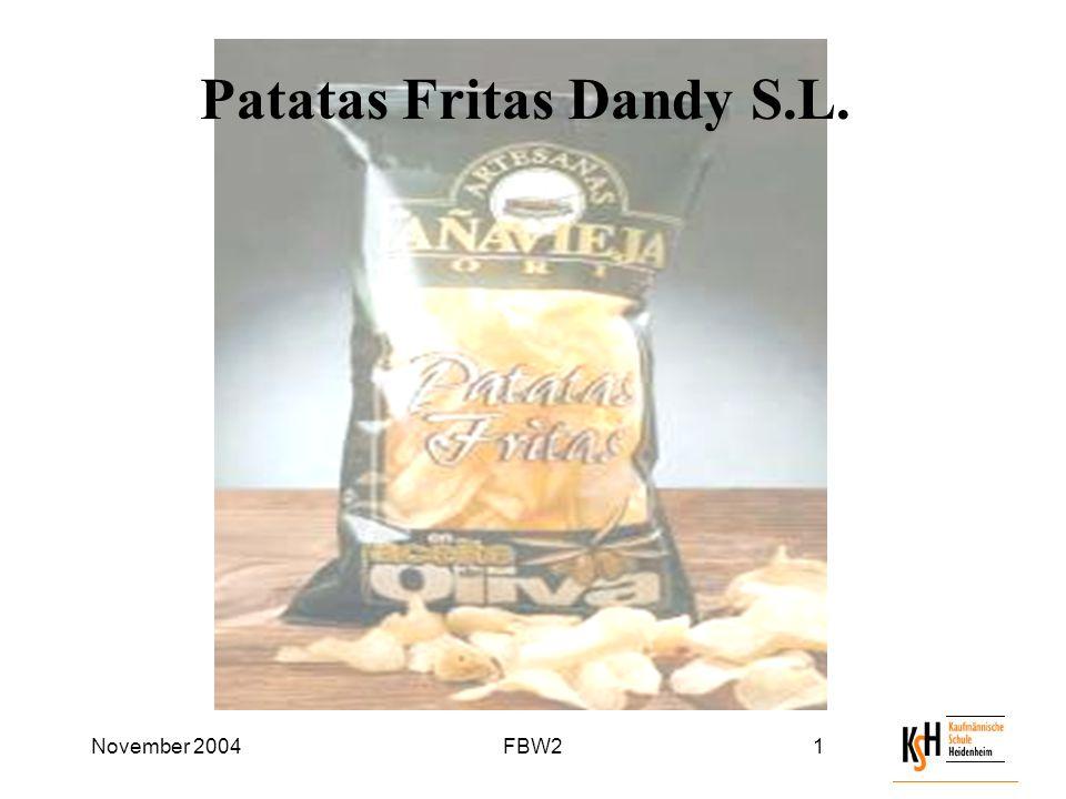 November 2004FBW21 Patatas Fritas Dandy S.L.