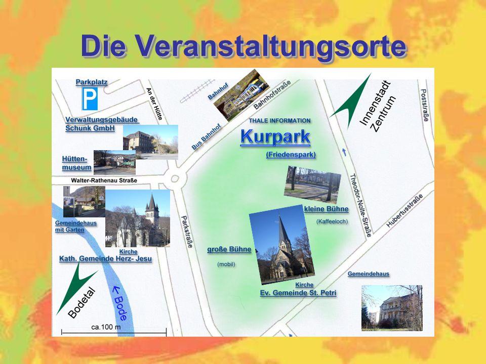Die Veranstaltungsorte