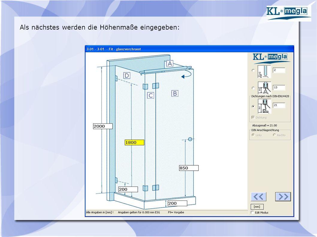 Die Berechnung der Scheiben erfolgt nach den hinterlegten Formeln bzw.