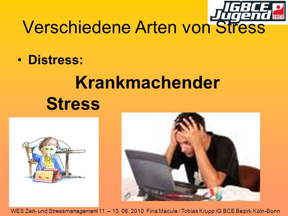 Verschiedene Arten von Stress Distress: Krankmachender Stress