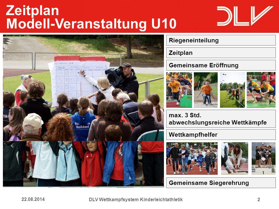 1322.08.2014 Rückmeldungen Kinder DLV Wettkampfsystem Kinderleichtathletik Kinder brauchen Gemeinschafts- erlebnisse im Training und Wettkampf.