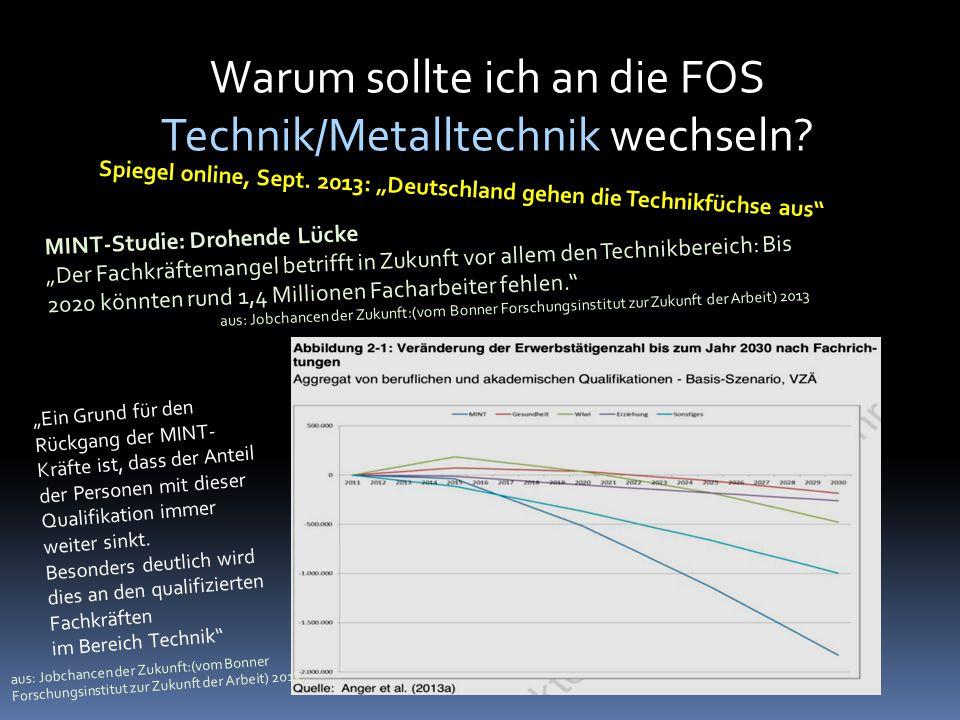 Warum sollte ich an die FOS Technik/Metalltechnik wechseln.